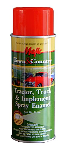 - Majic Paints 8-20954-8 Tractor & Implement Spray Enamel Paint, Aerosol, Ford Red