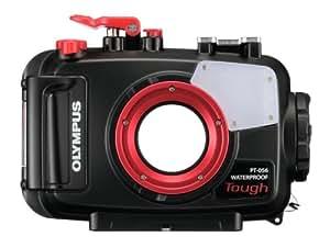 Olympus PT-056 - Carcasa para fotografía subacuática TG-3 Tough (Control mecánico), rojo