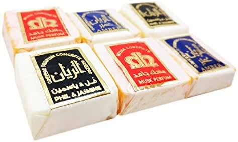 6 Pcs Al Rayan Solid Musk 3 Different Natural Fragrance Islamic Arabic Perfume - Alcohol Free