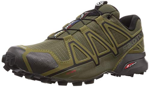 Salomon Men's SPEEDCROSS 4 WIDE Athletic Shoe, grape leaf/burnt olive/black, 10 Wide US (Salomon Mens Xa Pro 3d Trail Running Shoe)