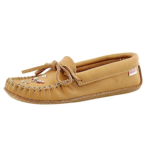 Softmoc Mujeres 7463 Leather Sole Moccasin Cork
