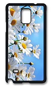MOKSHOP Adorable Camomile Background Hard Case Protective Shell Cell Phone Cover For Samsung Galaxy Note 4 - PCB