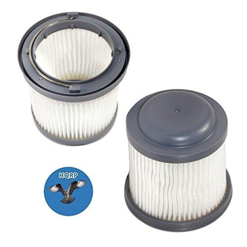 HQRP 2-Pack Washable Filter for Black & Decker BDH1200PVAV Pivot, BDH1200FVAV Flex Car Handheld Vacuum Auto VAC PVF110 Coaster by HQRP