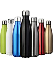 ZUSERIS Water & Drinks Bottle Sports Insulated Stainless Steel Vacuum Flask Double-walled for Outdoor Hiking Running Cycling Camping - 350ml & 500ml & 750ml & 1000ml