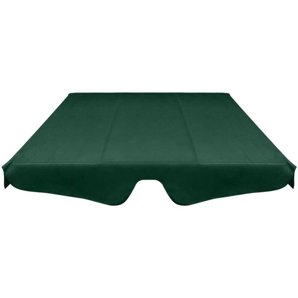 Festnight Replacement Canopy for Garden Swing Garden Hammock 249x185 cm Green