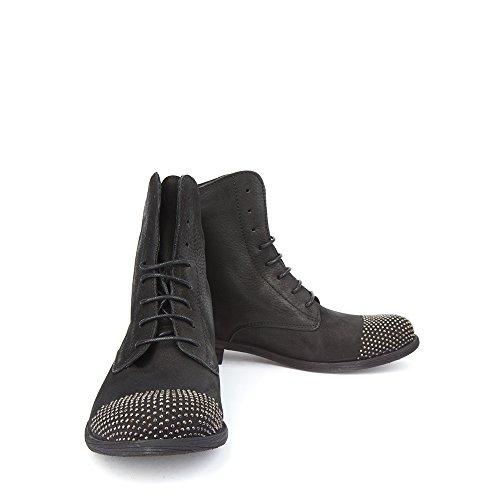 Felmini - Zapatos de cordones de Piel para mujer negro negro negro Size: 41 EU IxMNZsJ