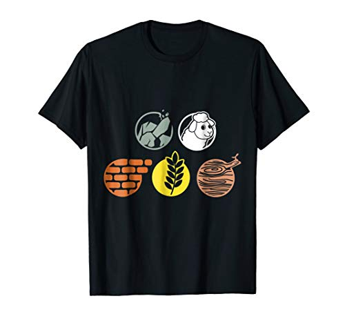 Life Components Brick, Wood, Rock, Wheat, Sheep T-Shirt -