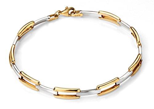 Ouvrir jaune 9ct Rectangle Bracelet Lien