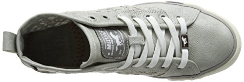 Mustang 1146-507-21, Sneakers Hautes Femme Argent (Silber)