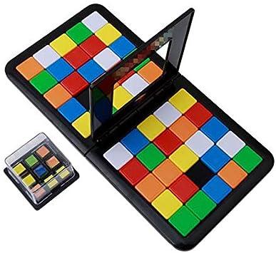 Niños en edad preescolar Juego de mesa de carreras Juego de mesa entre padres e hijos Juego doble Cubo Puzzle Divertida fiesta familiar Juguetes mágicos Cubos de rompecabezas para niños Adultos: Amazon.es: