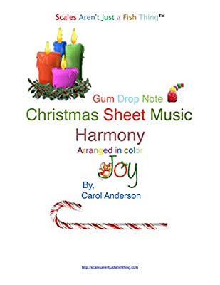 Christmas Carol Harmony Gum Drop Note Sheet Music