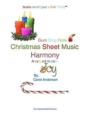 Christmas Carol Harmony Gum Drop Note Sheet Music