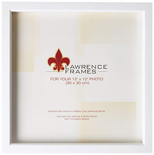 Lawrence Frames 795212 White Wood Treasure Box Shadow Box Picture Frame, 12 by ()