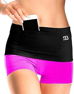 "L size new Men women Black Running sport fanny pack Waist bag fit 5/"" Phone Case"