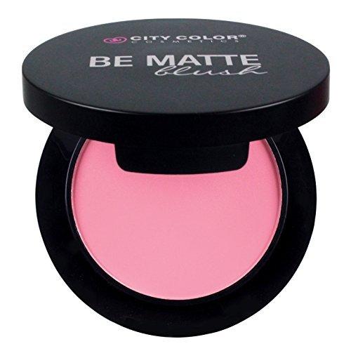CITY COLOR COSMETICS Be Matte Blush | Blendable Mineral Makeup Powder (Pink Grapefruit)