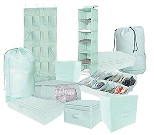 10PC Complete Organization Set - TUSK Storage - (Mint Room Decor)