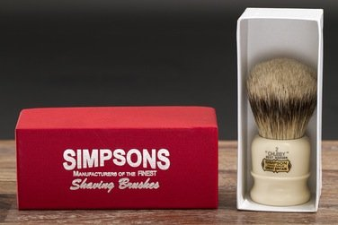 Chubby 2 Best Badger Shave Brush shave brush by Simpson by Simpson (Image #1)