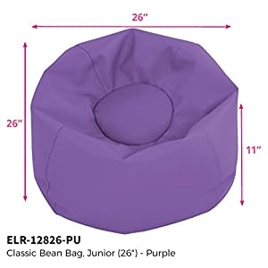 ECR4Kids Classic Bean Bag Chair for Children and Kids