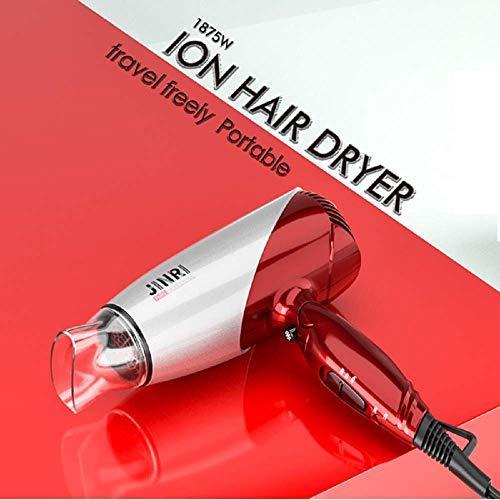 JINRI 1875W Travel Hair Dryer Dual Voltage Blow Dryer Dc Motor Foldable Handle Lightweight Negative Ionic Folding Hair Dryer (Rose Gold) by Jinri (Image #1)