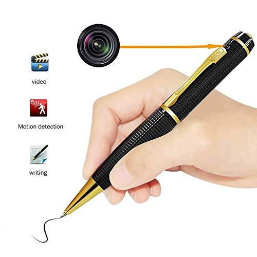 Hidden Camera Pen Mini DV – HD Digital Cam USB Portable 1080P Video Resolution Multifunction Photo Golden @Laing-H