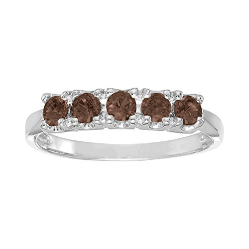 ArtCarved Sweet Moment Simulated Alexandrite June Birthstone Ring, 10K White Gold, Size 6.5