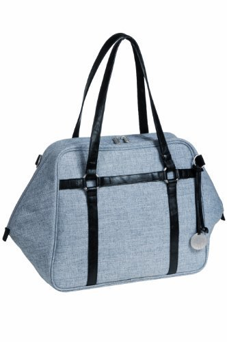 Price comparison product image Lassig Green Label Urban Style Diaper Bag includes matching Bottle Holder,  Changing Mat / Pad and Stroller Hooks,  Black Mlange by Lassig