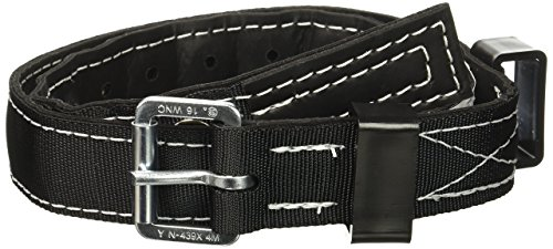 Miller by Honeywell 6414N/UBK Nylon Safety Body Belt with 1-3/4-Inch Webbing, Universal, Black ()