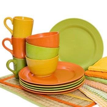Royal Norfolk - Santa Fe Orange Solid Stoneware Dinner Plate 10 1/2\u0026quot;  sc 1 st  Amazon.com & Amazon.com   Royal Norfolk - Santa Fe Orange Solid Stoneware Dinner ...