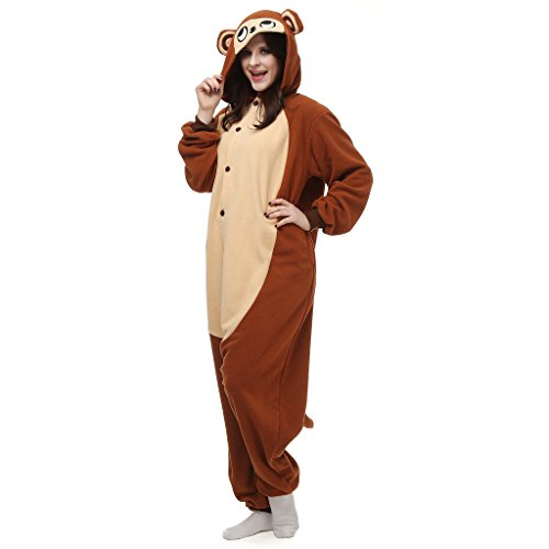 [VenusDress Monkey Jumpsuit Pajamas Halloween Cosplay Onesie Sleepwear] (Monkey Halloween)