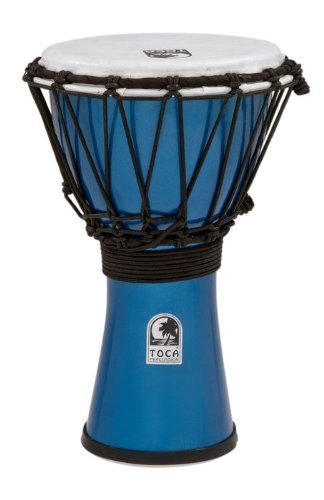 Toca TFCDJ-7MB Freestyle Colorsound 7-Inch Djembe - Metallic Blue by Toca