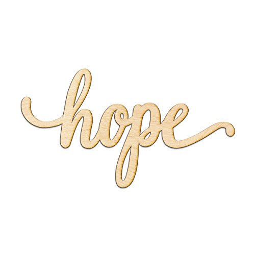 (Hope Script Wood Sign Home Decor Wall Art Unfinished Charlie 12