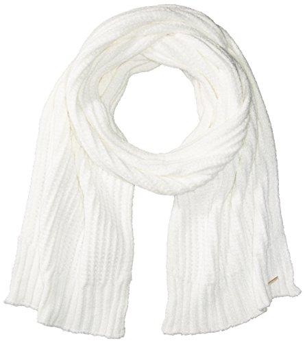 Calvin Klein Women's Soft Chenille Scarf Accessory, Cream, One Size (White Scarf Chenille)
