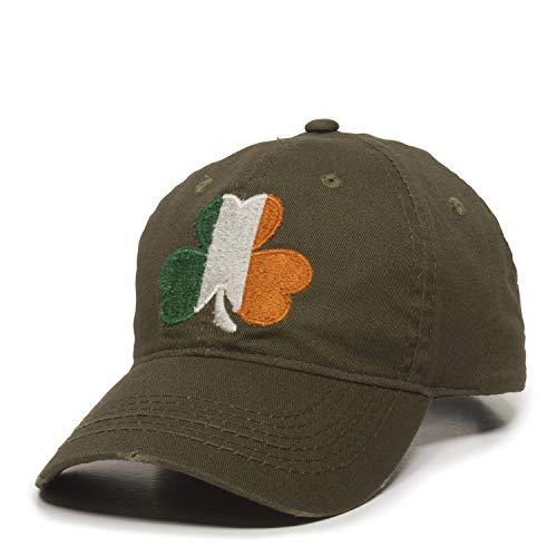 Outdoor Cap Irish Flag Shamrock Dad Hat - Adjustable Polo Style Baseball Cap for Men & Women Olive, Medium -