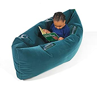 "Abilitations 1512739 Inflatable Pea Pod, Kindergarten to 1, 4 to 7 Years, 20"" Height, 29"" Wide, 48"" Length, Vinyl, Junior, Green"
