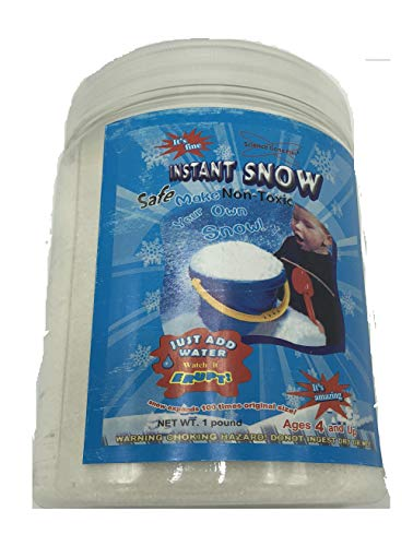 Science Gone Fun Magic Instant Expanding Snow Powder 1 Pound Jar (1), Makes 8 Gallons