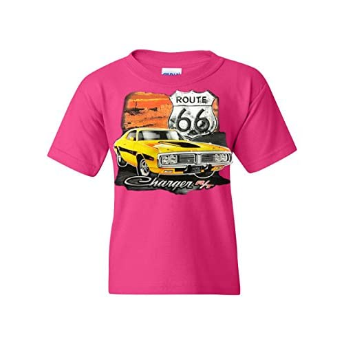 Dodge Charger R//T Youth T-Shirt Route 66 USA Muscle Car Tee