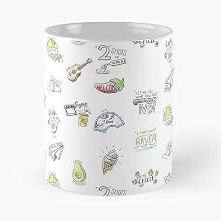 Two Shots Hot Birthday Vine Vines Sittin Dudes - Taza de café de cerámica con citas de aguacate en un mejor de 11 onzas