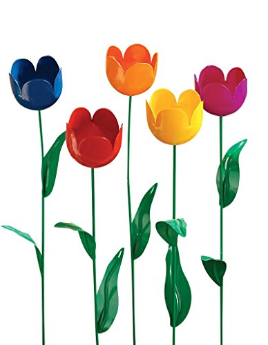 Miles Kimball Artificial Tulips - Set Of 5 (Flowers Metal For Wall)