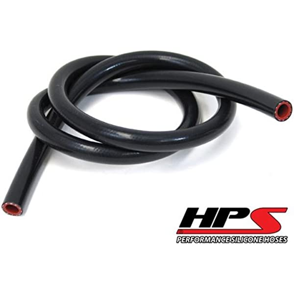 7-1//2 ID 10 psi Maximum Pressure HPS  HTST-3F-750-BLK High Temperature 6-Ply Reinforced Silicone Coolant Tube Hose Black 3 Length