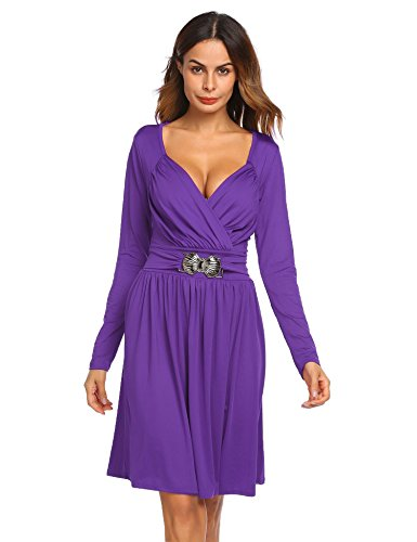 Pleated Long Sleeved Dress - 8