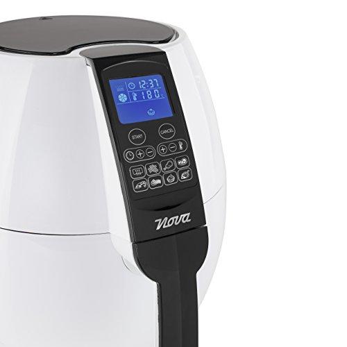 Nova Freidora Digital Sin aceite XL, Freidora de aire caliente, 1500 W, capacidad 3.2 L, blanco (Clase de eficiencia energética A++)