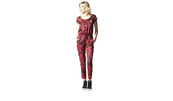 e49e67d016c4 Amazon.com  Adidas Originals Women s Red Clash All-in-One Jumpsuit Small  Red  Sports   Outdoors