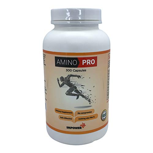 Amino PRO Amino Acid BCAA All-Natural Supplement 300 Capsules For Sale
