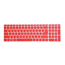 """Leze - Ultra Thin Laptop Keyboard Cover Skin Protector for HP OMEN 17,HP ENVY m7-n,Pavilion 17-g 17t-n 17-s,17-g015dx 17t-n100 17-s010nr m7-n109dx m7-n101dx 17.3"""" Laptop - Red"""