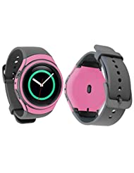TOOPOOT 42mm Carbon Fiber Full Body Skin Protector For Samsung Gear S2 (pink)