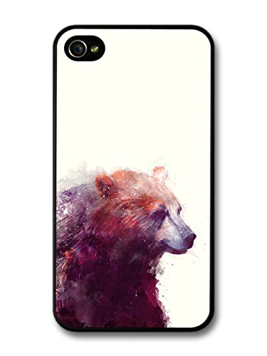 Bear Illustration on White Background, Beautiful Hipster coque pour iPhone 4 4S