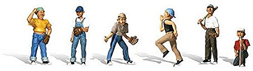 Woodland Scenics N Scale Scenic Accents Baseball Players - Scale Figures Baseball