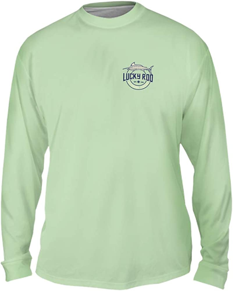 Yizzam LuckyRod Offshore Fishing Mens Long Sleeve UPF 50+ Performance Fishing Shirt