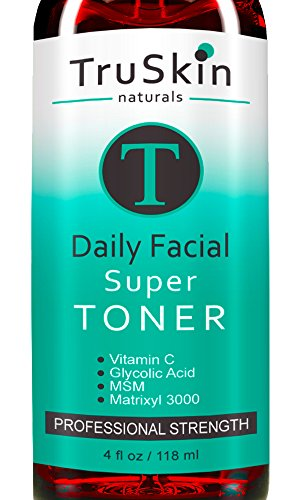 DAILY Facial SUPER Toner for All Skin Types - Contains Glycolic Acid,...