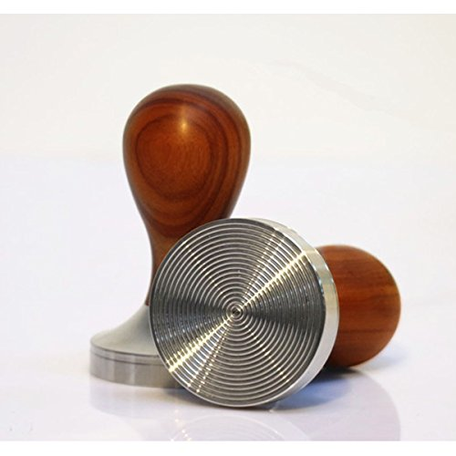 Bluefun Coffee Tamper Espresso Barista Accessories Nature Wood Stainless Steel Thread Base 58mm